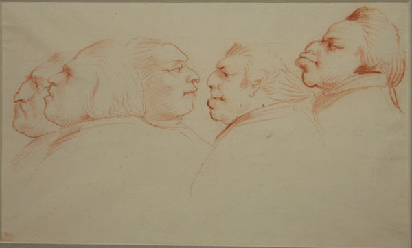 A caricature of 5 heads