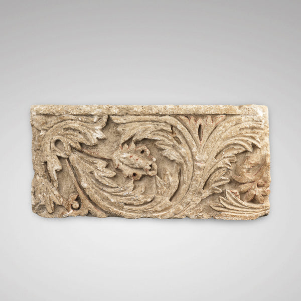 Carved Foliate relief