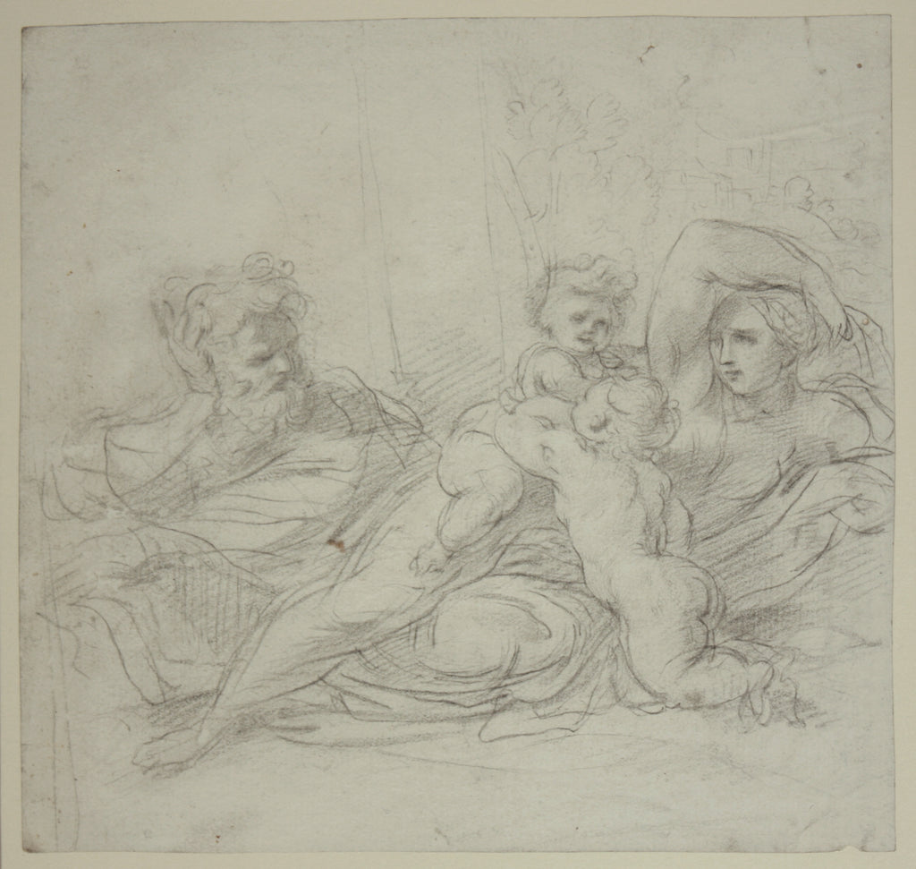Reclining figures with putti