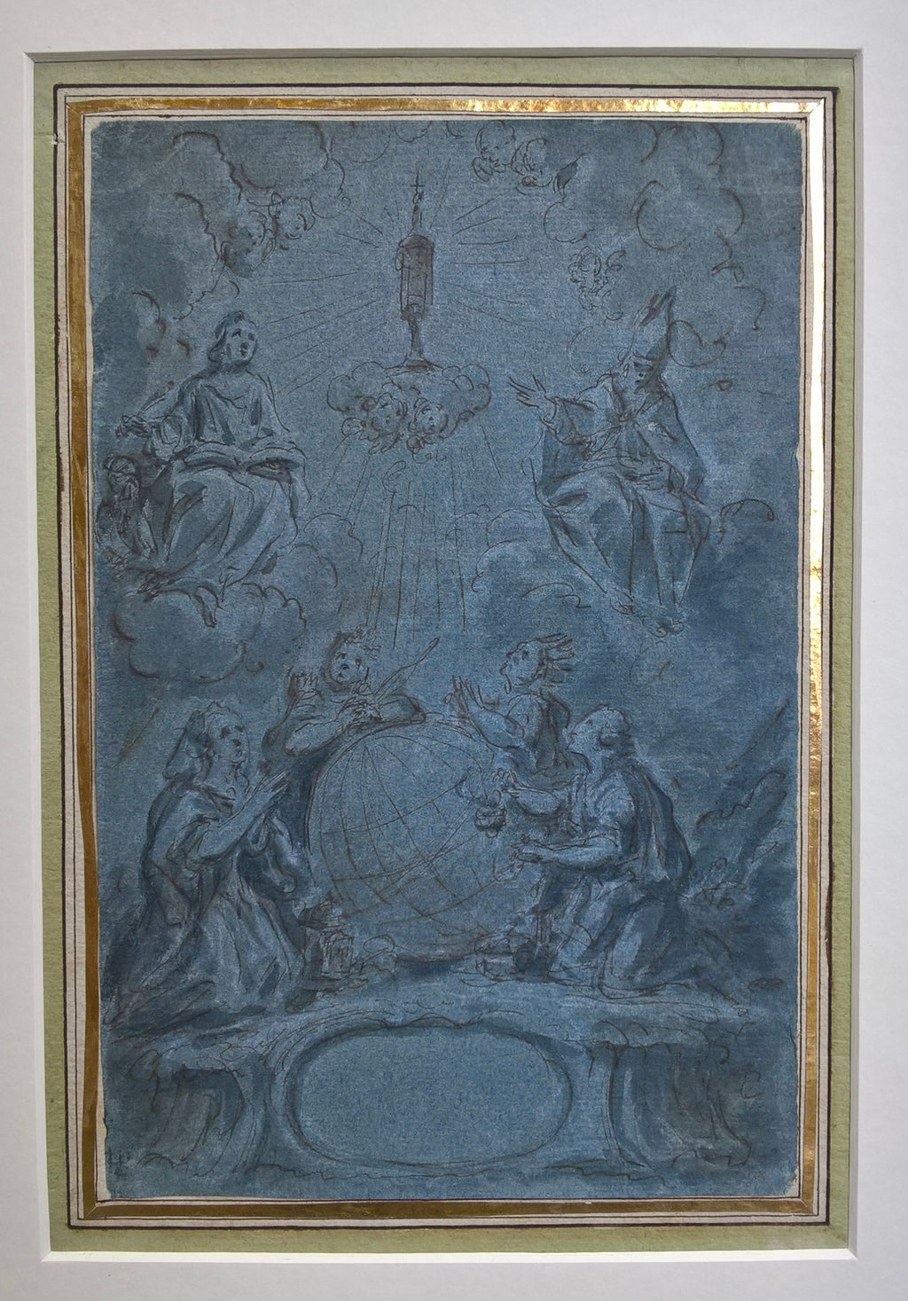 Saints in adoration of the Host