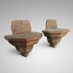 Pair of oak brackets