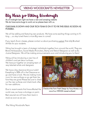 VIKING WOODCRAFTS NEWSLETTER!