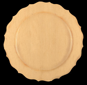 "Plate, Scalloped Rim, 12"" Dia. ,"