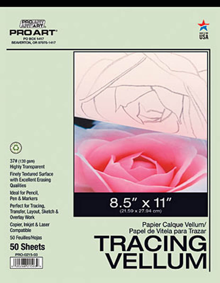 Tracing Vellum Paper Pad by Pro-Art