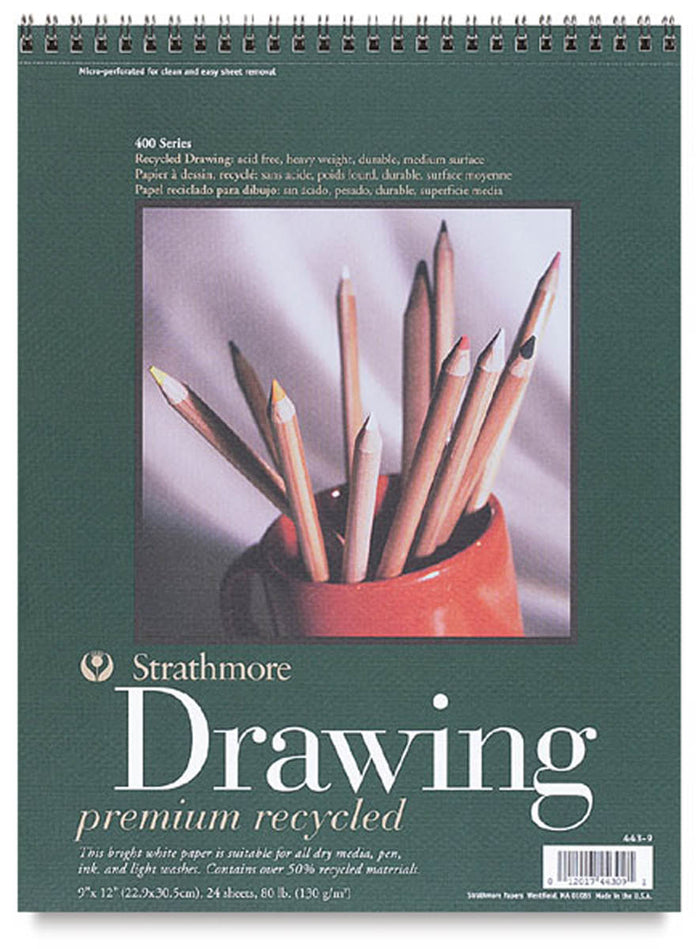 Premium Recycled Drawing Paper Pad, 443 Series, 80 lb. by Strathmore