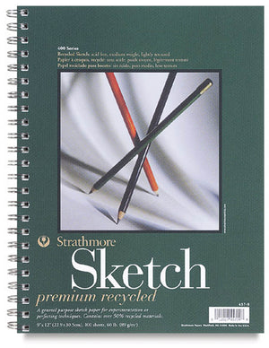 Premium Recycled Sketch Paper Pad, 457 Series, 60 lb. by Strathmore