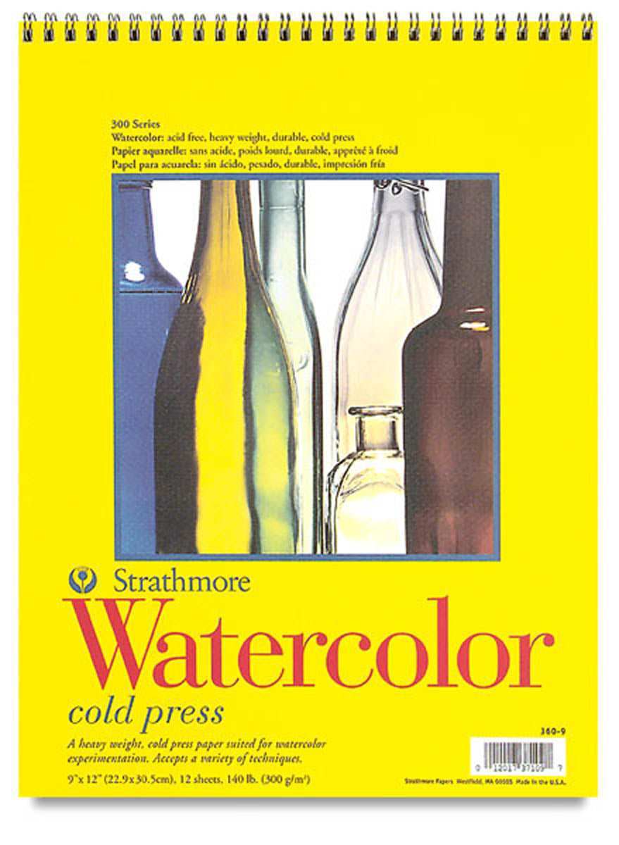 Watercolor Paper Pad, 360 Series, 140 lb. Cold Press by Strathmore