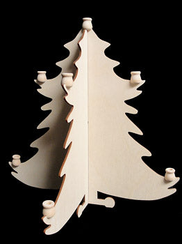 "Christmas Tree, 3-D, w/ Candle Cups, 12"" T,"