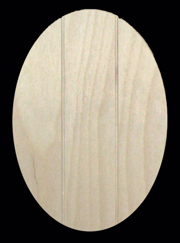 Plaque, Oval 3-slat