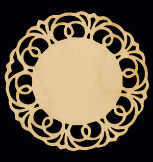 "Cutout, Lacy Ornament, 3"" Dia.,"