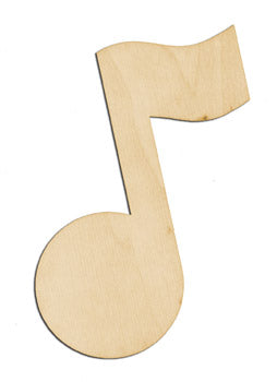 "Cutout, Music Note, 5"" x 4"","
