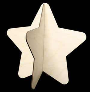 "3-D Rounded Star, 10"" T,"