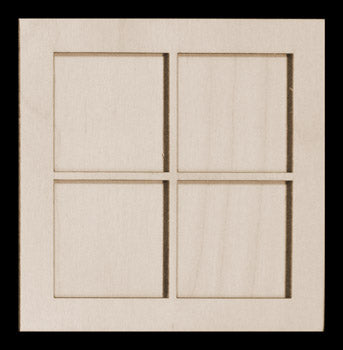 "Frame Kit, Window Pane, 4 1/2"" Sq,"