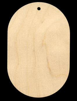"Ornament, Oval, 2 3/4"" x 4 1/4"","