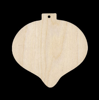 "Ornament, Teardrop, 3 3/4"" T x 4"","