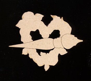 "Cutout, Hearts & Flowers, 3"" W,"