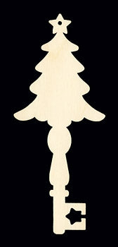 "Ornament, Key, Christmas Tree, 7"","