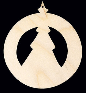 "Ornament, Tree Circle, 4 3/4"" T,"