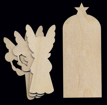 "Cutout, Nativity Set, 6 1/2"" T,"