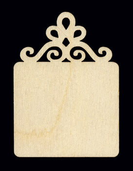 "Ornament, w/ Scroll Top, 2"" x 1 3/4"","
