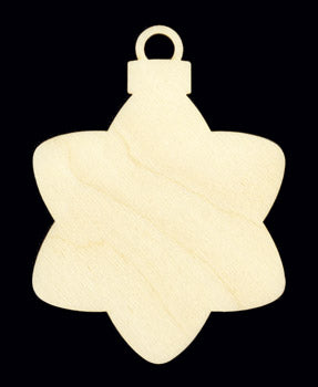 "Ornament, Hanging Star, 4 1/4"" T x 3"","