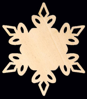 "Cutout, Royal Snowflake, 10"" Dia,"