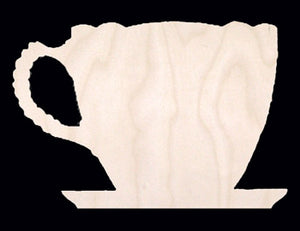 "Ornament, Tea Cup #1, 3 3/8"" T x 4 1/2"","