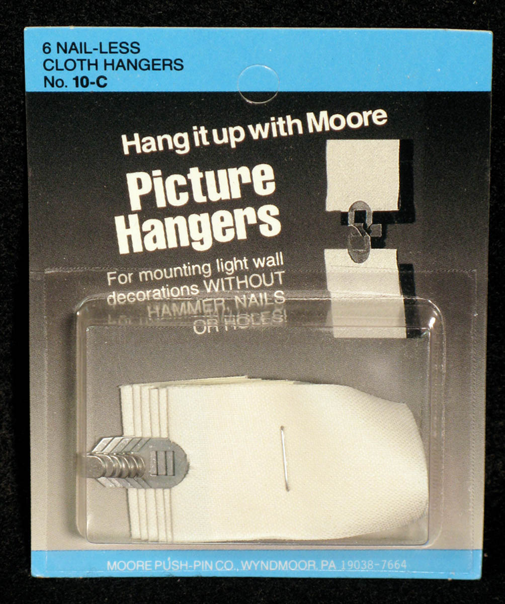 Picture Hanger, Cloth by Moore Push-pin Co.