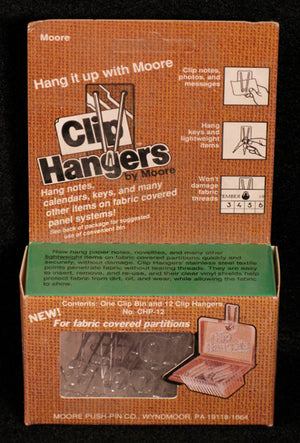 Hangers, Clip by Moore Push-pin Co.