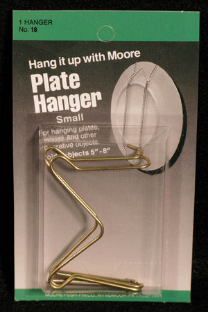 Plate Hanger, Brass by Moore Push-pin Co.
