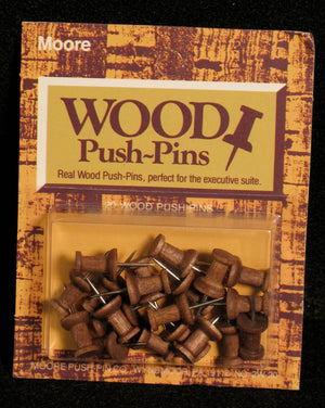 Push Pins, Wood by Moore Push-pin Co.