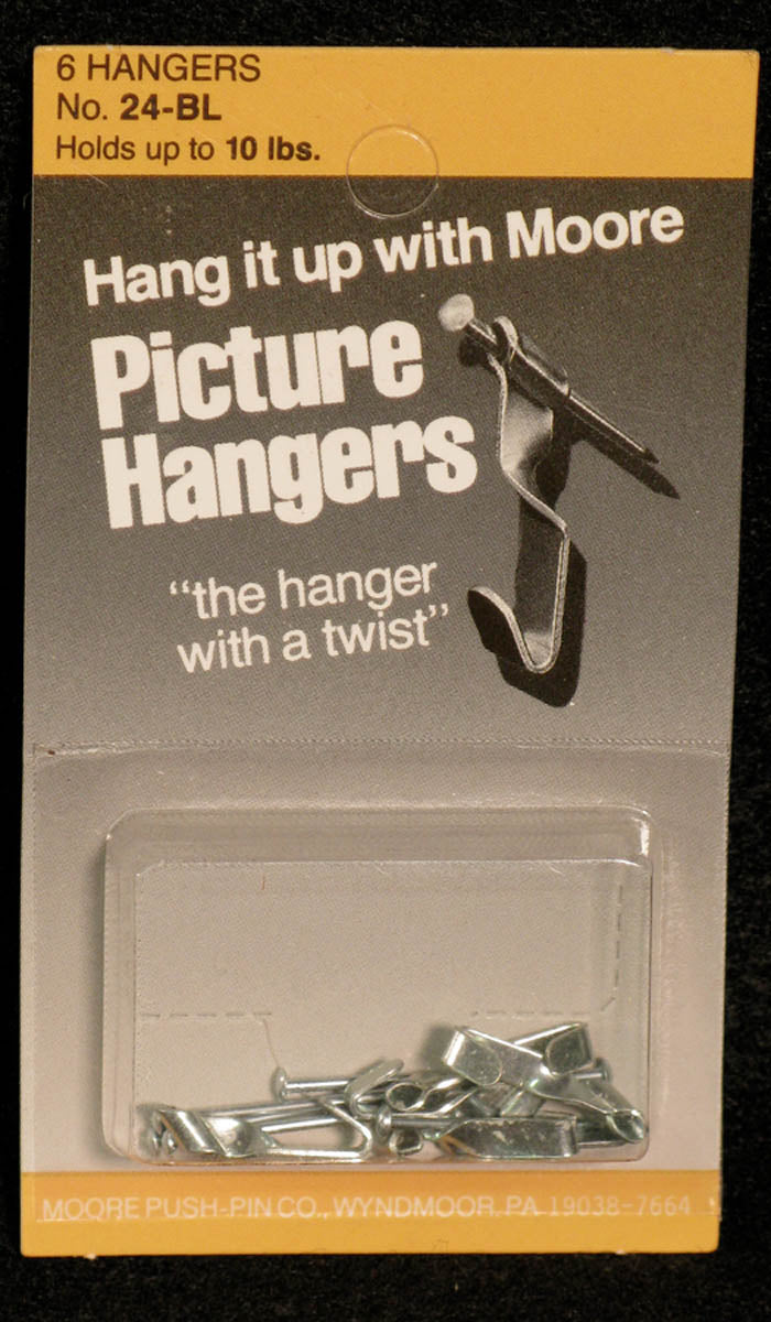 Picture Hangers, Nails included by Moore Push-pin Co.