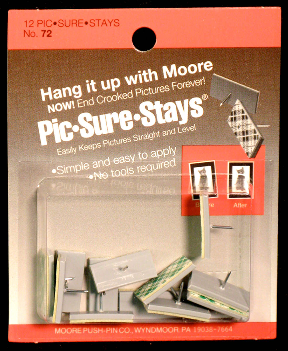 Picture Hangers, Pic-Sure-Stays by Moore Push-pin Co.