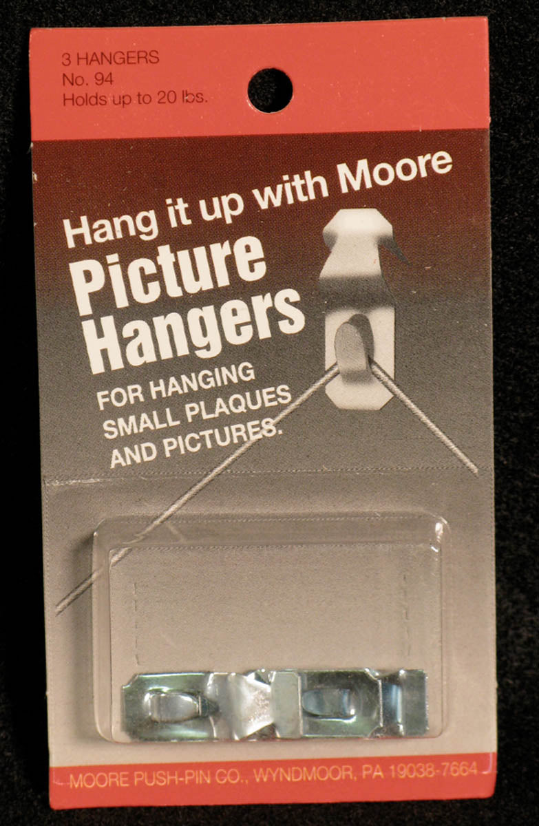 Picture Hangers, One Piece Nail-less by Moore Push-pin Co.