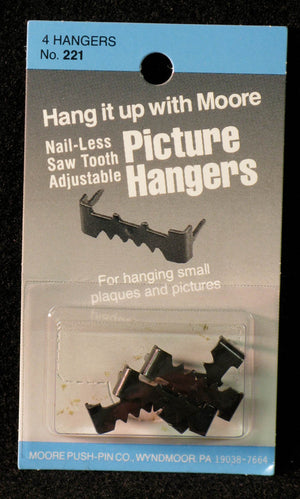 Hangers, Sawtooth, Nail-less by Moore Push-pin Co.