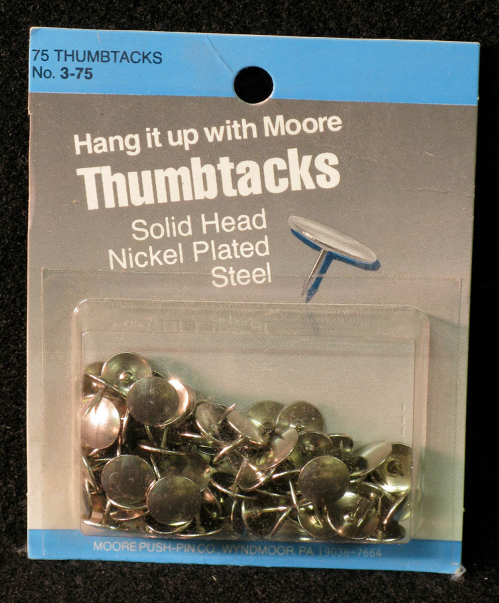 Tacks, Solid Head by Moore Push-pin Co.