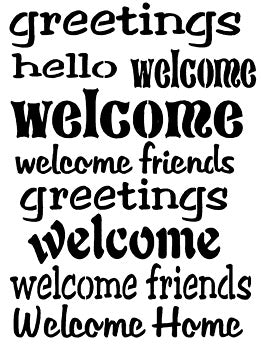 Stencil-Welcome Words #149