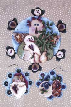 Winter Penny Rugs Packet by Karen Wisner