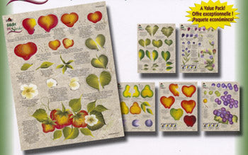 One Stroke Berries & Fruit Worksheet Packet by Folk Art
