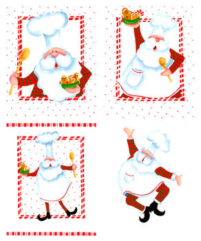 Baking Santas Packet by Pat Olson
