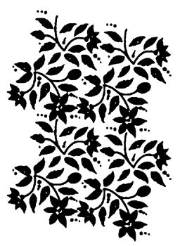 "European Elegance Collection Stencil by Tracy Moreau, Jacobean Floral by DecoArt, 8 1/2"" x 11"","