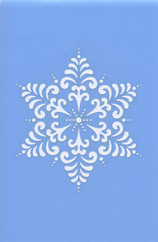 "Stencil, Tracy Moreau, Victorian Snowflake, Large, 8 1/2"" x 5 1/2"","