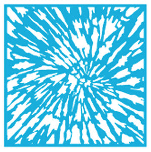 "Media Stencil, Tye Dye by DecoArt, 12"" Sq,"