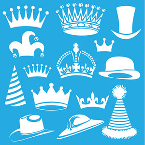 "Stencil, Brim & Crown by DecoArt, 12"" x 12"","