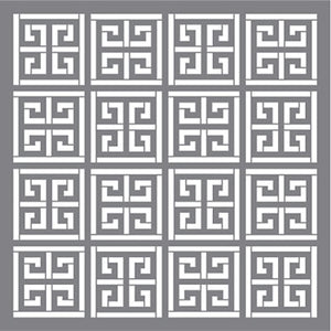 "Stencil, Greek Key by DecoArt, 12"" x 12"","