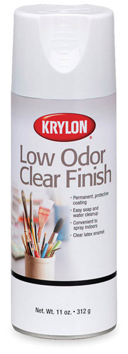 Low Odor Clear Finish Spray, Matte by Krylon