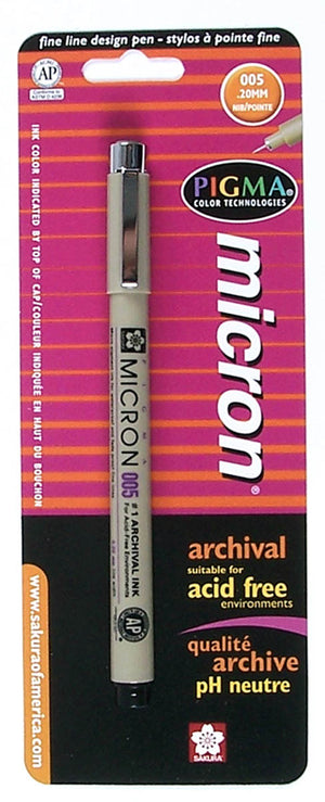 Pigma Micron Pen, Carded , 005 by Sakura