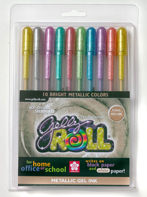 Metallic Gelly Roll Pen Set, Carded by Sakura