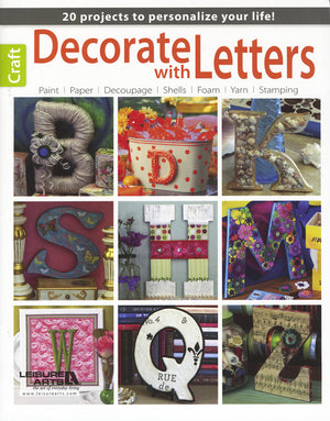 Decorate With Letters by Leisure Arts