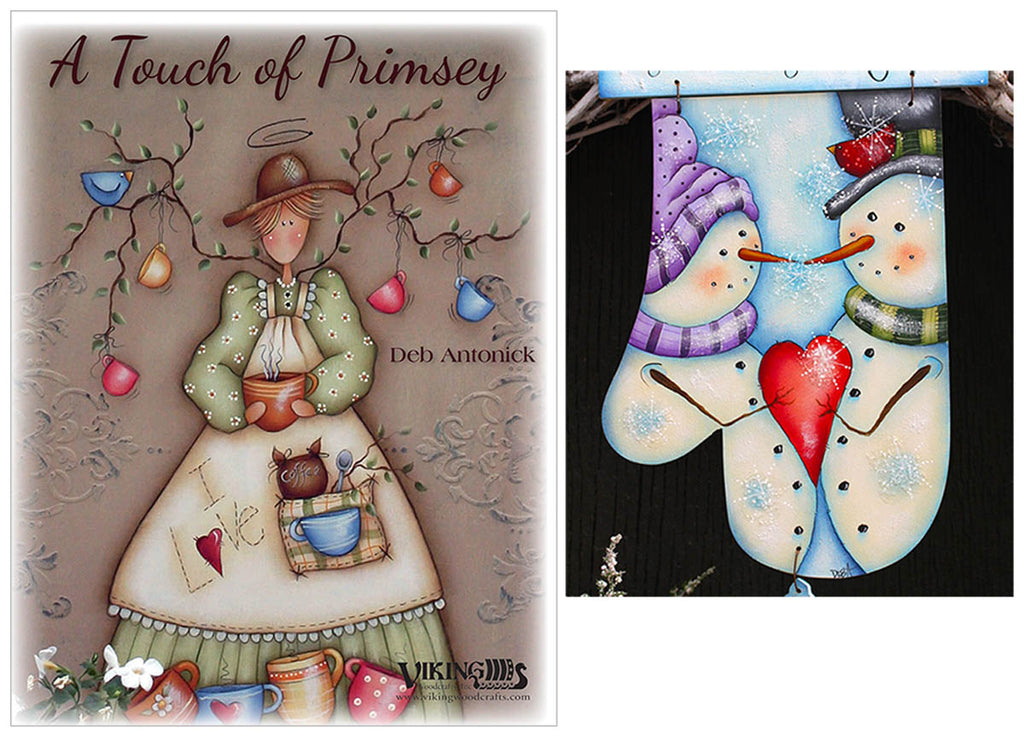 Touch of Primsey & Mitten Plaque by Deb Antonick